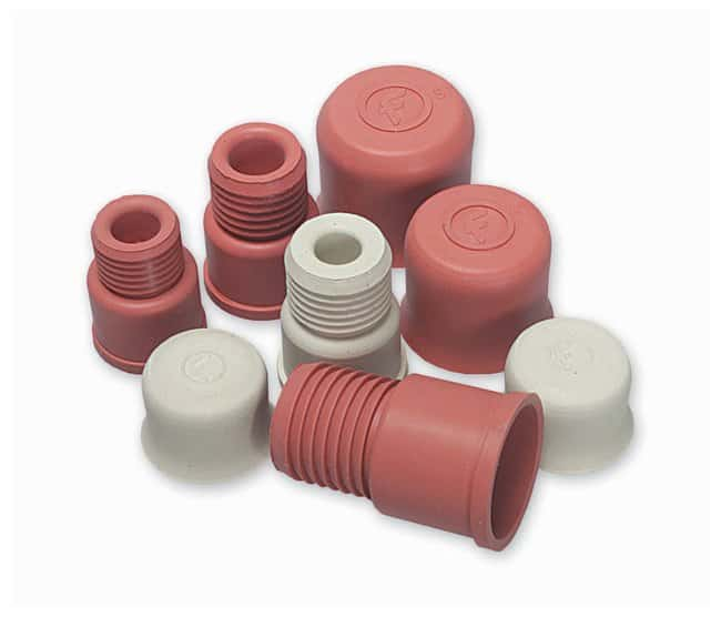 FisherbrandTurnover Septum Stoppers Red; 53mm overall:Stoppers and Closures