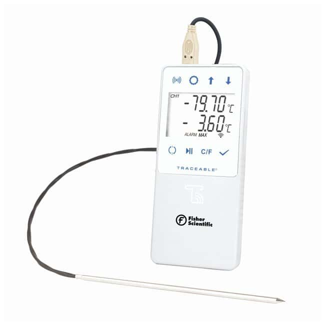 Fisherbrand™ TraceableLIVE™ Ultra-Low Temperature WiFi Datalogging Thermometer with Remote Notification