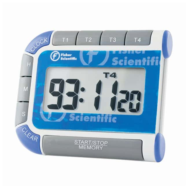 Fisherbrand™ Traceable™ Multi-Colored Timer Resolution: 1 sec.; Timing capacity: 99 hours, 59 minutes, 59 seconds Stopwatches