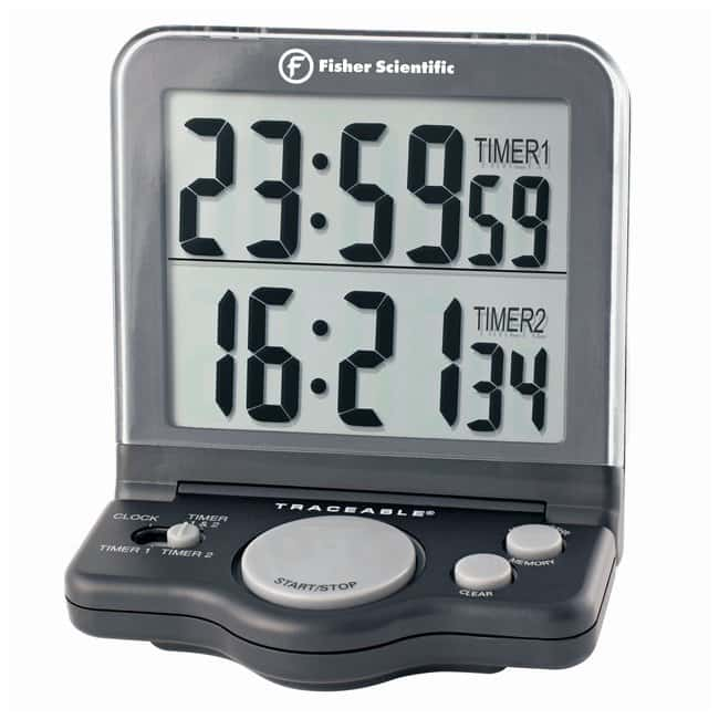 fisherbrand traceable two channel benchtop timer with dual line lcd rh fishersci ca Fisher Scientific Stopwatch Manual Fisher Scientific Stopwatch Manual