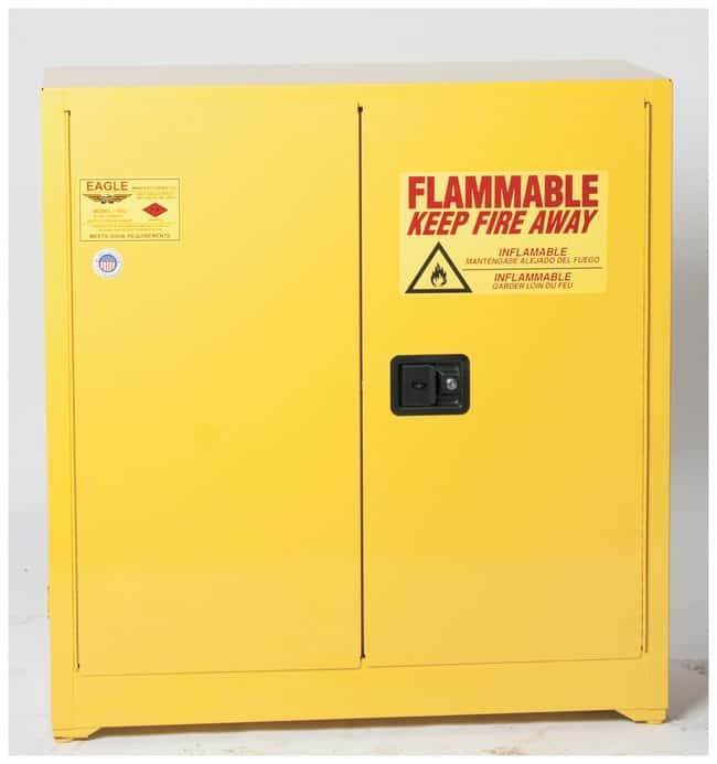 Eagle Flammable Liquid Safety Storage Cabinet:Gloves, Glasses And  Safety:Hazardous