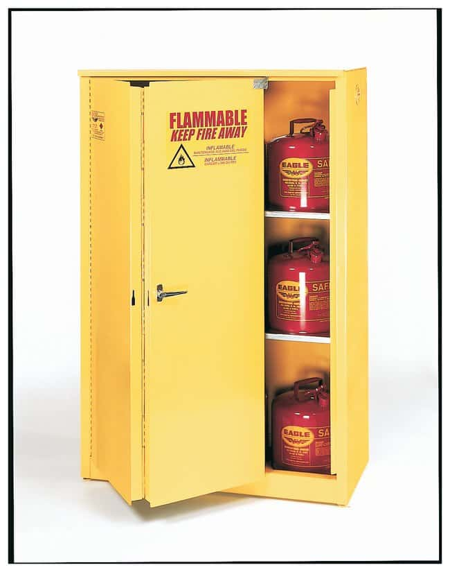 Eagle Flammable Liquid Safety Storage Cabinet Bi-fold self-closing doors  sc 1 st  Fisher Scientific & Eagle Flammable Liquid Safety Storage Cabinet Bi-fold self-closing ...