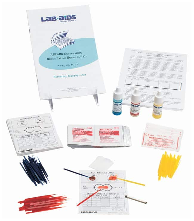Lab-Aids&trade;&nbsp;ABO-Rh Combination Blood Typing Kit&nbsp;<img src=