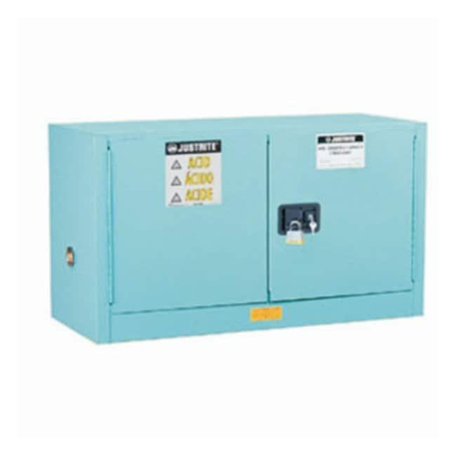 Justrite™Armoires de sécurité Sure-Grip™EX en acier pour produits corrosifs/ acides Porte à fermeture automatique; Capacité: 12gal (45L) Justrite™Armoires de sécurité Sure-Grip™EX en acier pour produits corrosifs/ acides