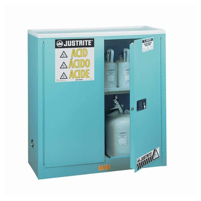 Justrite™ Sure-Grip™ EX Corrosives/Acid Steel Safety Cabinet