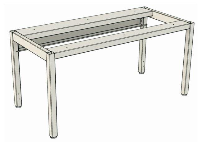Mott Manufacturing Altus Table System Component, Four Leg Table:Furniture,