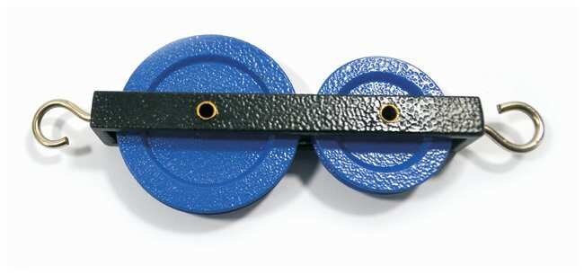 Eisco Pulleys Metal, Double-Long  :Teaching Supplies