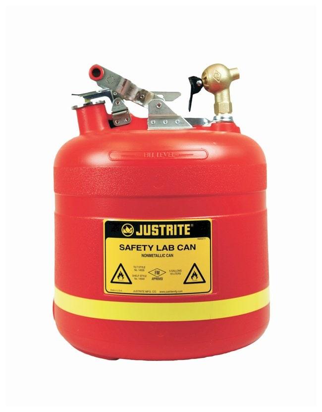 JustriteDispensing Safety Can, 5-gal., Stainless Steel Hardware, Top Self-Close