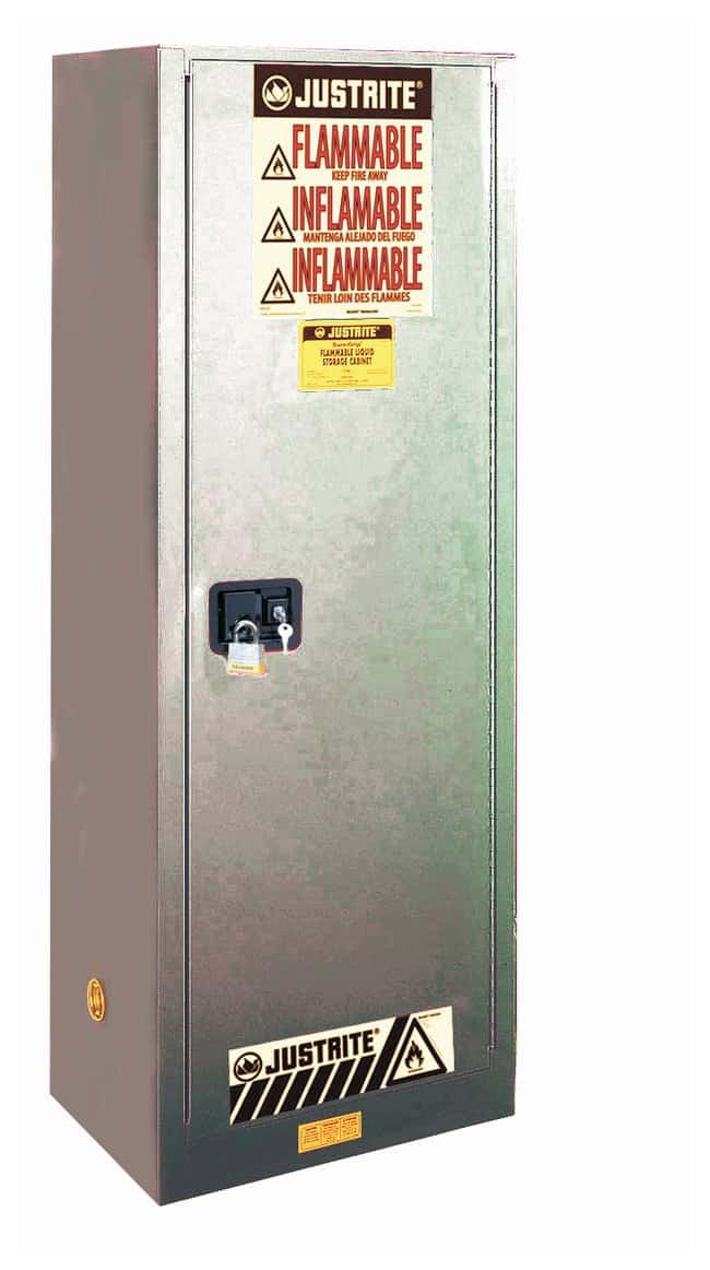 Justrite 22 Gallon Sure-Grip EX Slimline Flammable Safety Cabinet  22 Gallons,