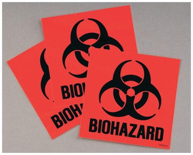 JustriteCode Compliant for California Label Kit for Biohazard Cans Biohazard