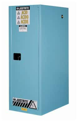 Justrite™ 54 Gallon Sure Grip™ EX Deep Slimline Flammable Safety Cabinet  With Manual Closing Doors