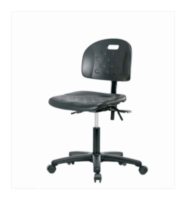 Fisherbrand Industrial Polyurethane Chair  With seat tilt; No arms; Chrome
