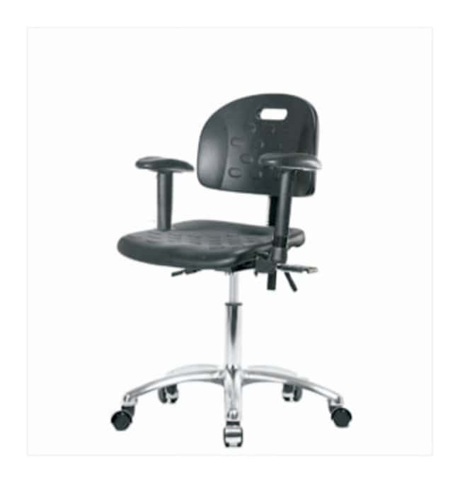 Fisherbrand Industrial Polyurethane Chair Chrome, Desk Height  With seat