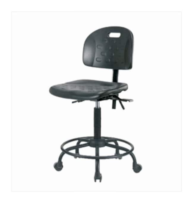 Fisherbrand High-Form Industrial Polyurethane Chair, Powder-Coated Steel