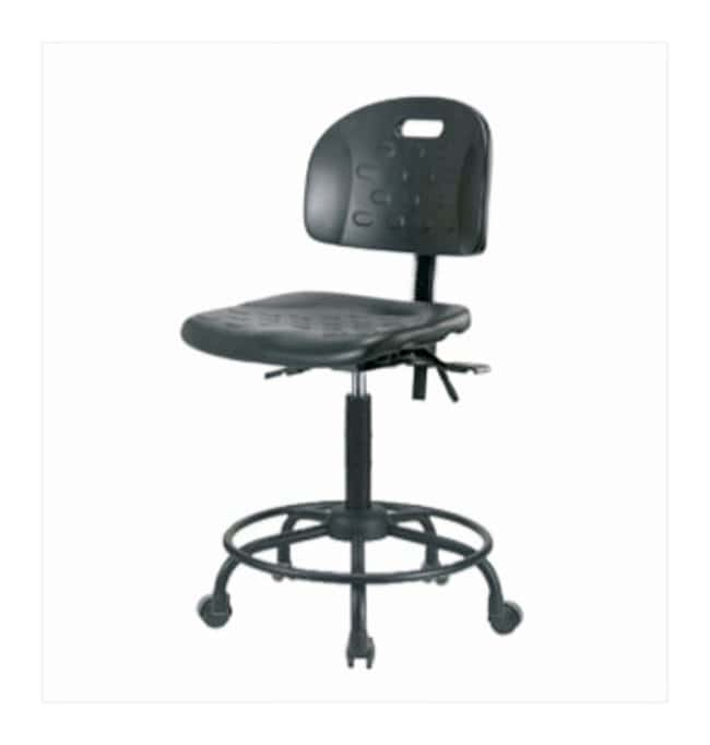 Fisherbrand High-Form Industrial Polyurethane Chair, Powder-Coated Steel