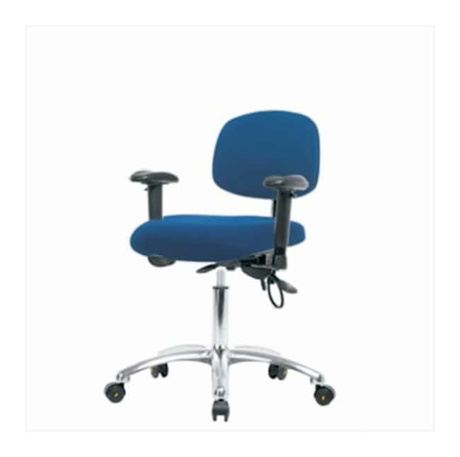 Fisherbrand Fabric ESD Chair, Desk Height  No seat tilt; With adjustable