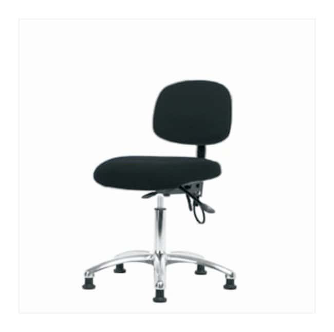 Fisherbrand Fabric ESD Chair, Desk Height  No tilt seat; No arms; ESD glides;