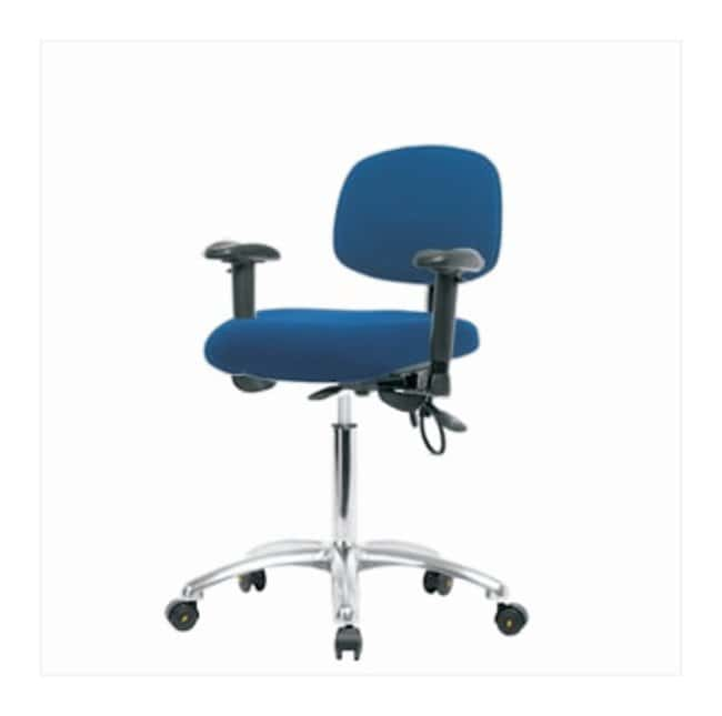 Fisherbrand Fabric ESD Chair, Medium Bench Height, Without Foot Ring  With