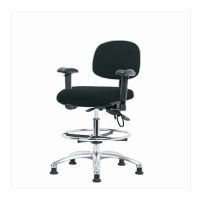 Fisherbrand Fabric ESD Chair - Medium Bench Height with Adjustable Arms,