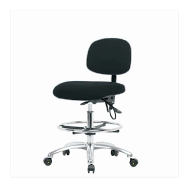FisherbrandFabric ESD Chair - High Bench Height with Seat Tilt, Chrome
