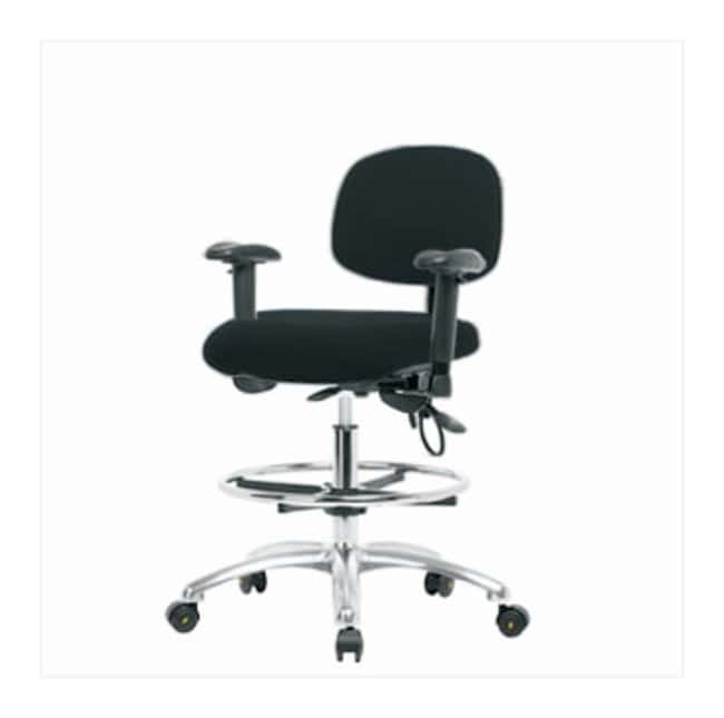 Fisherbrand Fabric ESD Chair, High Bench Height  With tilt seat; With adjustable