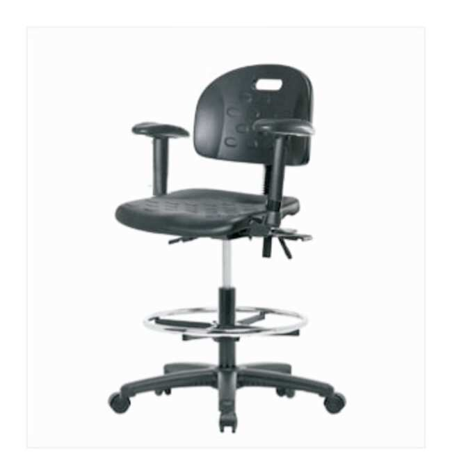 Fisherbrand Medium-Form Industrial Polyurethane Chair, Nylon Reinforced