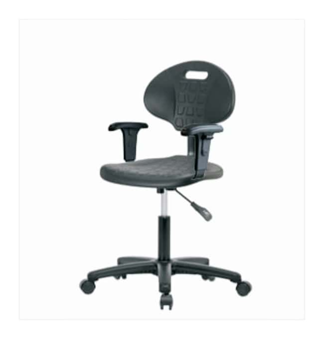 Fisherbrand Polyurethane Desk Chair  With arms:Furniture, Storage, Casework,