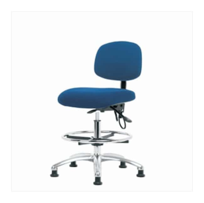 Fisherbrand Fabric ESD Chair, Medium Bench Height, Without Foot Ring  No