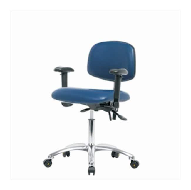 Fisherbrand ESD Chair, Desk Height, Chrome Frame, Vinyl Seat  No tilt seat;