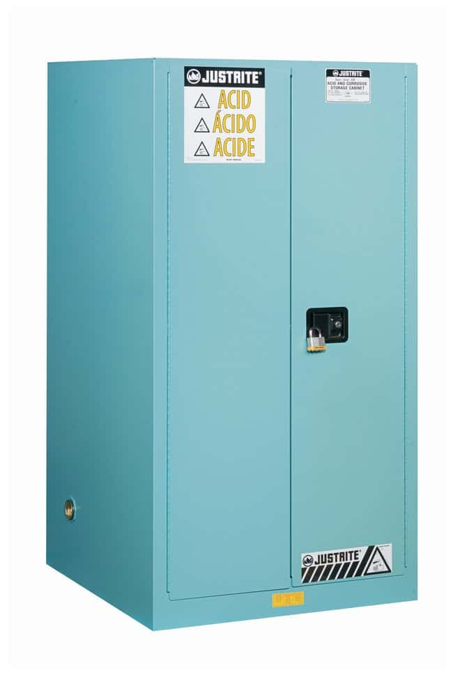 Justrite 60 Gallon Sure-Grip EX Corrosives/Acid Steel Safety Cabinet :Gloves,