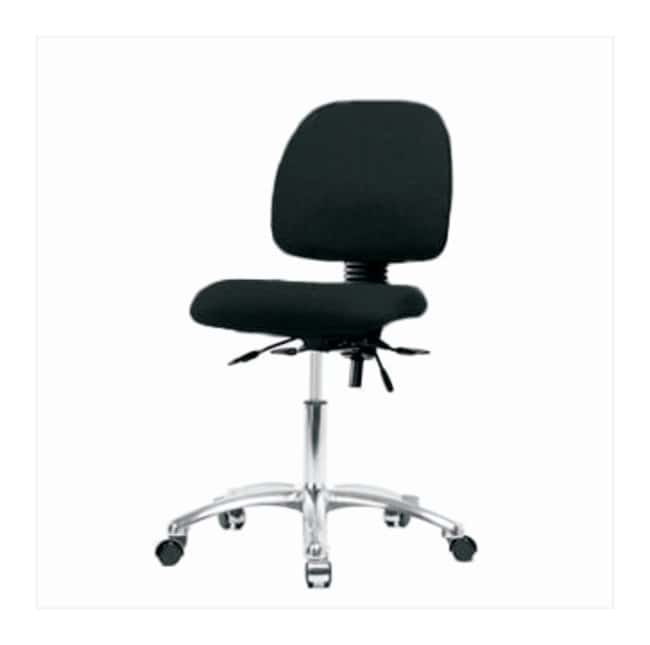 Fisherbrand Fabric Task Chair with Chrome Base and Medium Back  No arms;
