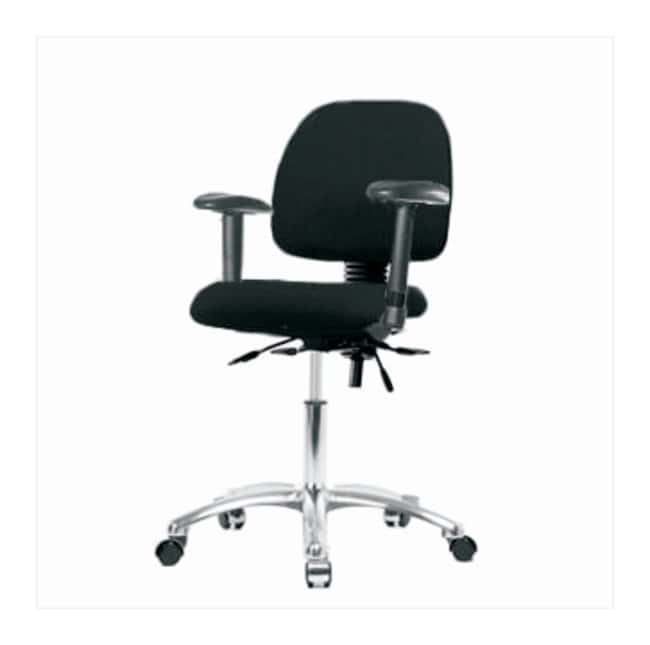 Fisherbrand Fabric Task Chair with Chrome Base and Medium Back  Adjustable