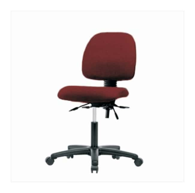 Fisherbrand Low-Form Fabric Chairs without Arms, Desk Height  No arms;