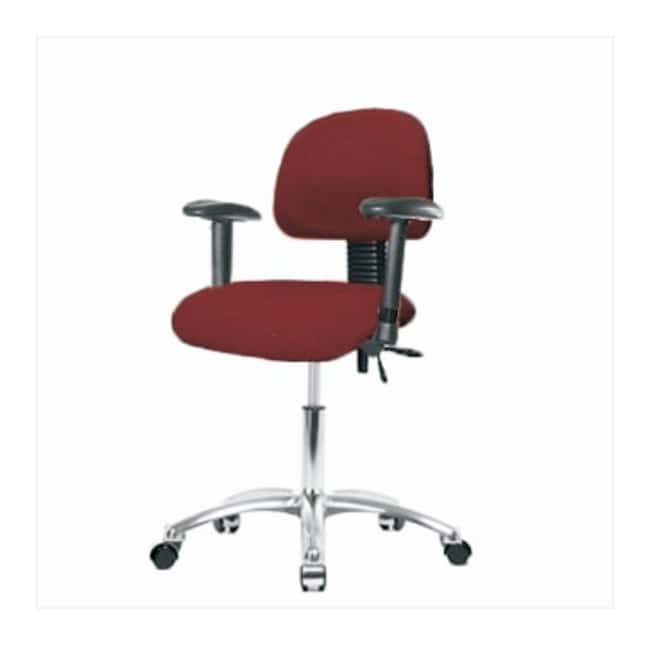 FisherbrandFabric Chair Chrome - Desk Height with Adjustable Arms and Casters