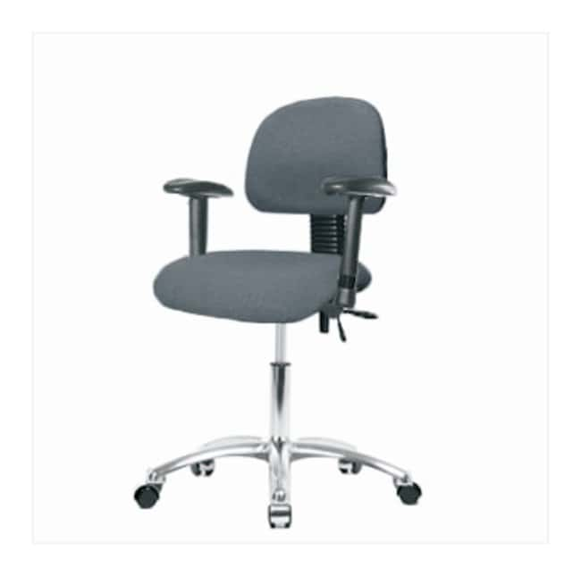 Fisherbrand Fabric Task Chair with Standard Back  Polished Cast Aluminum