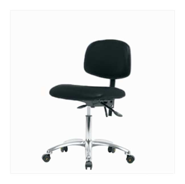 Fisherbrand ESD Chair, Desk Height, Chrome Frame, Vinyl Seat  No tilt seat;