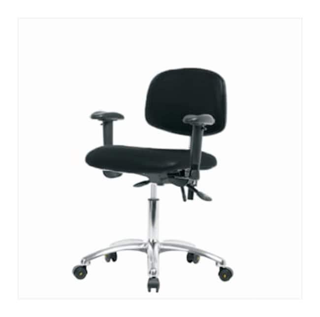 Fisherbrand ESD Chair, Desk Height, Chrome Frame, Vinyl Seat  With tilt