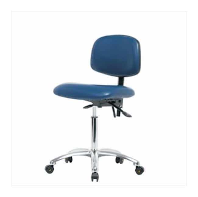 Fisherbrand Medium Form ESD Chair, Chrome Frame, Vinyl Seat  no foot rest;