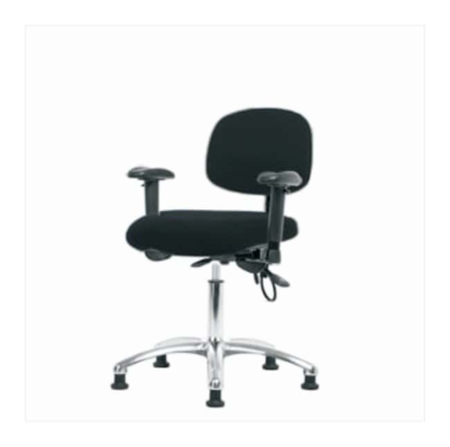 Fisherbrand Fabric ESD Chair, Desk Height  No tilt seat; With adjustable