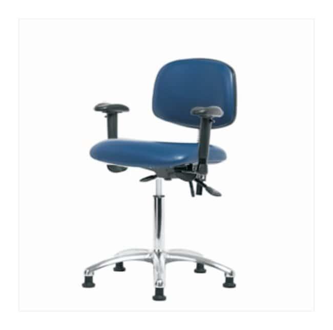 Fisherbrand ESD Chair, Medium Bench Height, Chrome Frame, Vinyl Seat  no