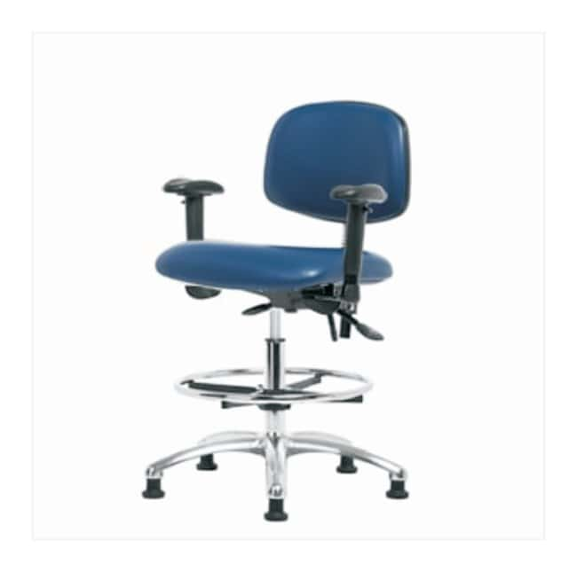 FisherbrandVinyl ESD Chair - Medium Bench Height with Adjustable Arms,