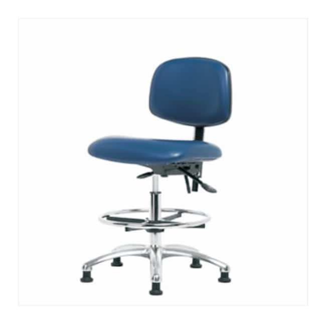 Fisherbrand ESD Chair, Medium Bench Height, Chrome Frame, Vinyl Seat  with