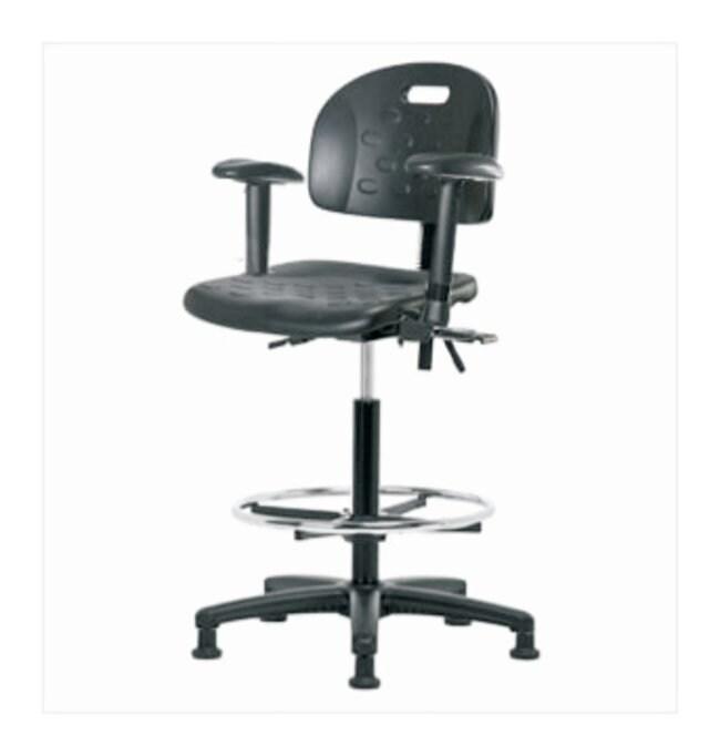 Fisherbrand High-Form Polyurethane Chair, Polished Cast Aluminum Frame