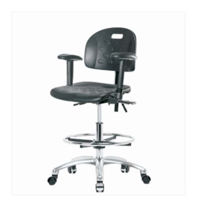 Fisherbrand Industrial Polyurethane Chair Chrome, Medium Bench Height