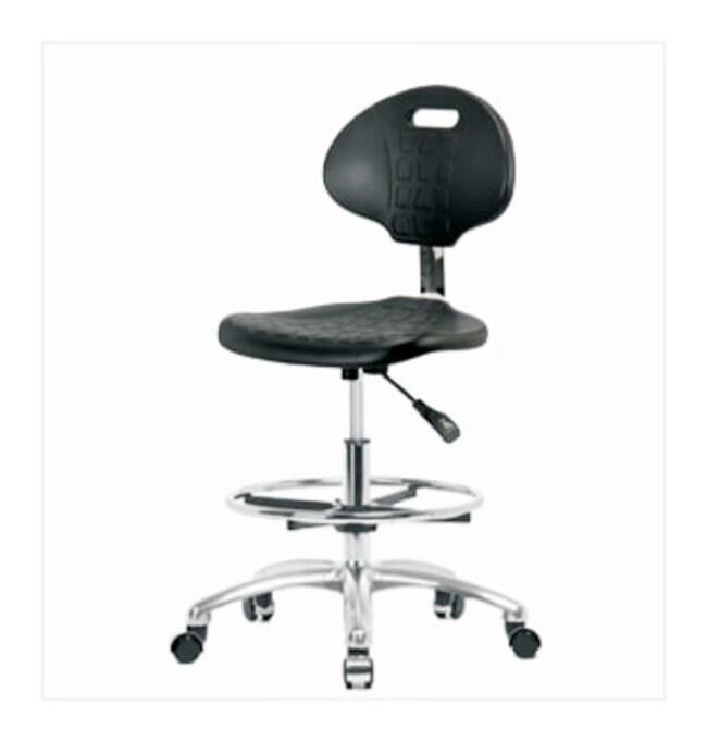 Fisherbrand Basic Industrial Polyurethane Chair Chrome, Medium Bench Height