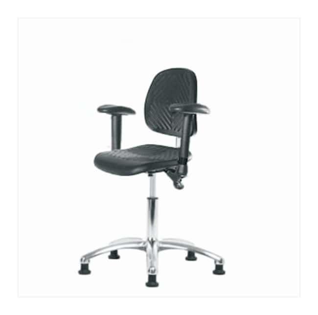 Fisherbrand Low-Form Polyurethane Clean Room Chair, Desk Height  adjustable