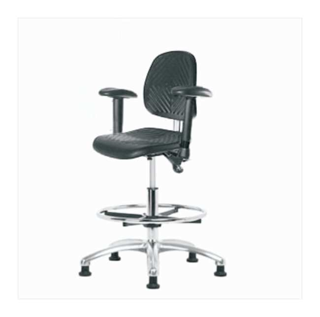 Fisherbrand Medium-Form Polyurethane Clean Room Chair  adjustable arms;