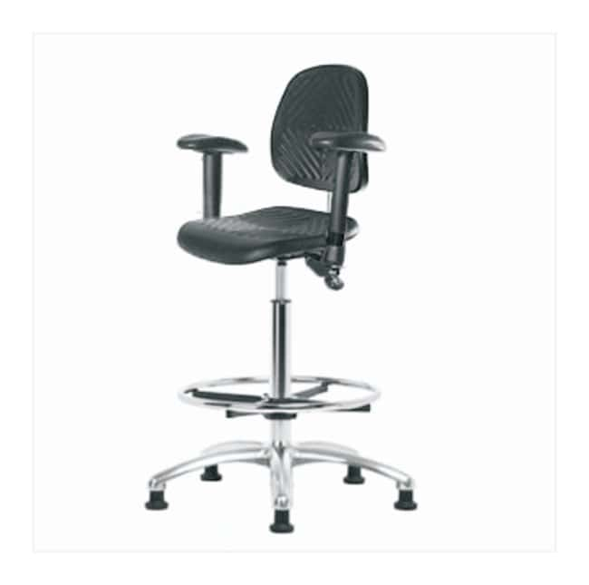 Fisherbrand High-Form Polyurethane Clean Room Chair  adjustable arms; With