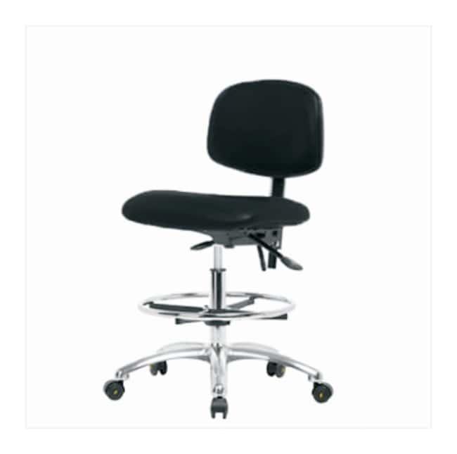 FisherbrandVinyl ESD Chair - Medium Bench Height with Seat Tilt, Chrome