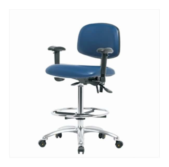 FisherbrandVinyl ESD Chair - High Bench Height with Adjustable Arms, Chrome